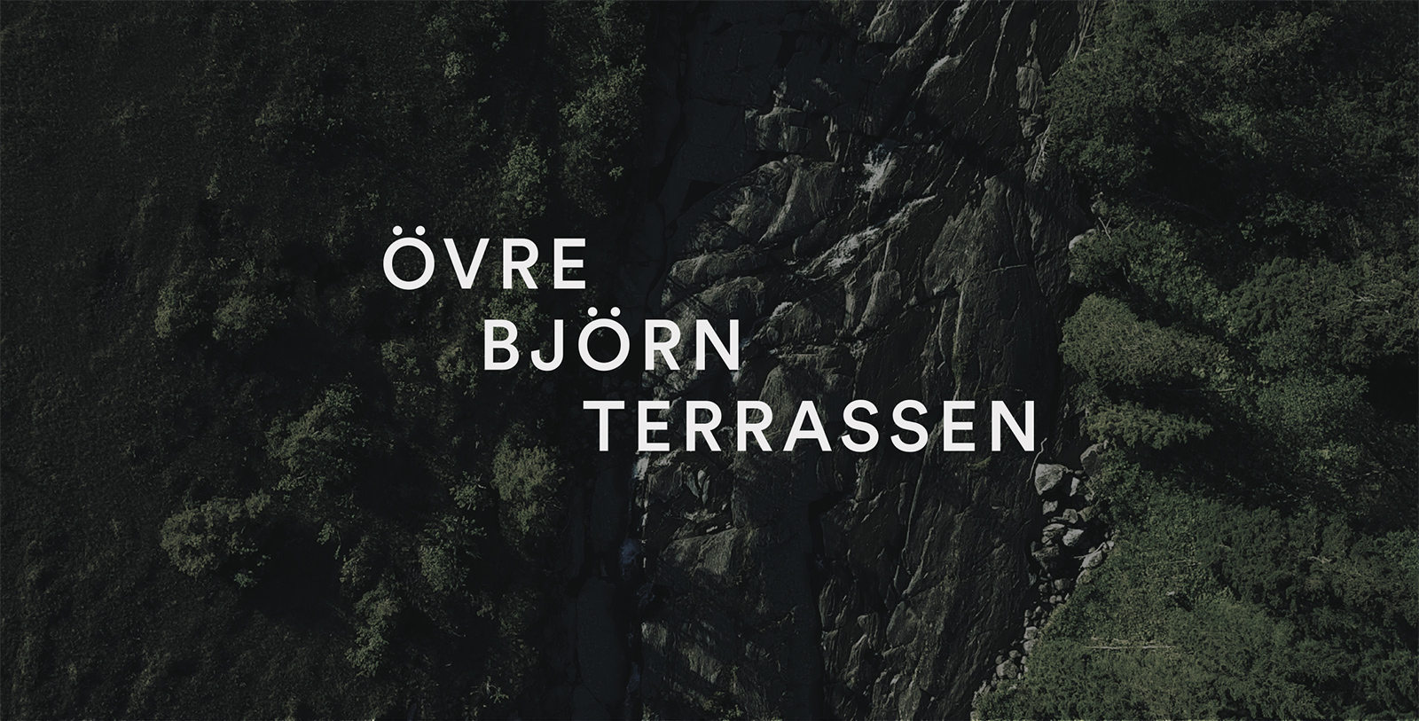Digital design for Fahlander Architects and Övre Björnterrassen. Material from the process. The ÖBT logotype on photography.