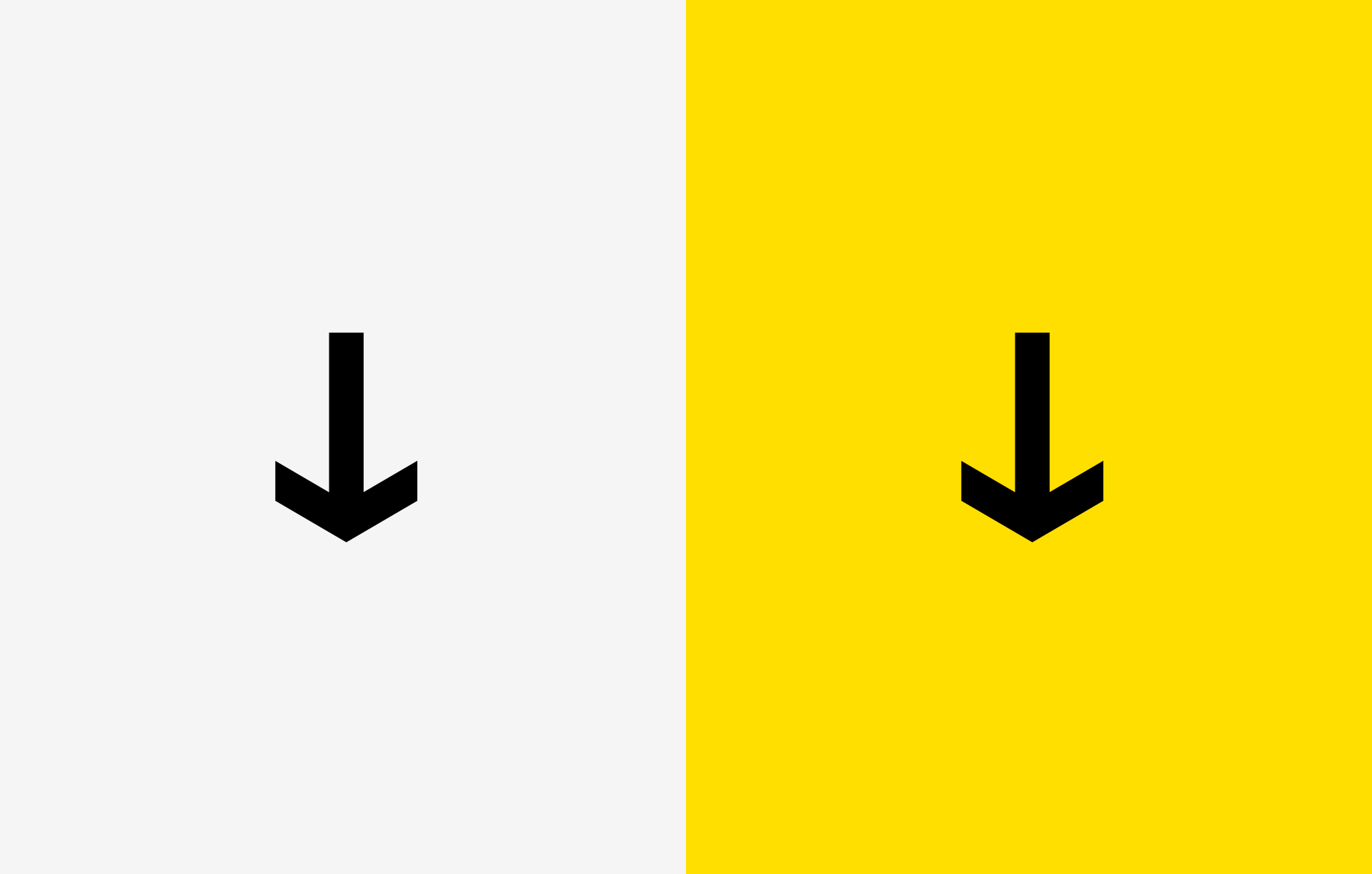 Brand design for IAR Embedded Workbench. Material from the process. Illustration showing graphical component from the logotype in black on white and yellow background.